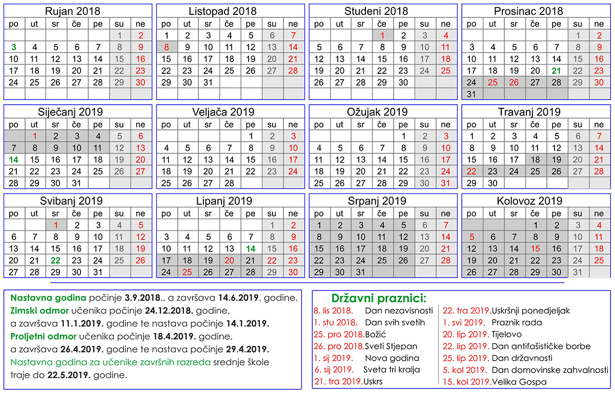 1dd35059e1 Kalendar školske godine 2018. 2019. - Osnovna škola Malinska ...